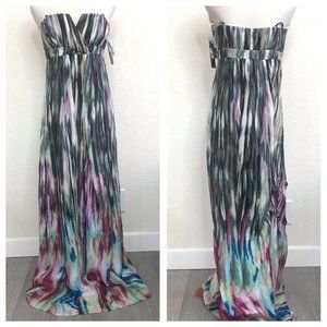 NEW Laundry Shelli Segal Strapless Maxi Dress CQK